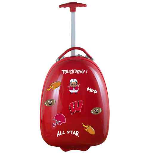 CLWIL601-RED: NCAA Wisconsin Badgers Kids Luggage Red
